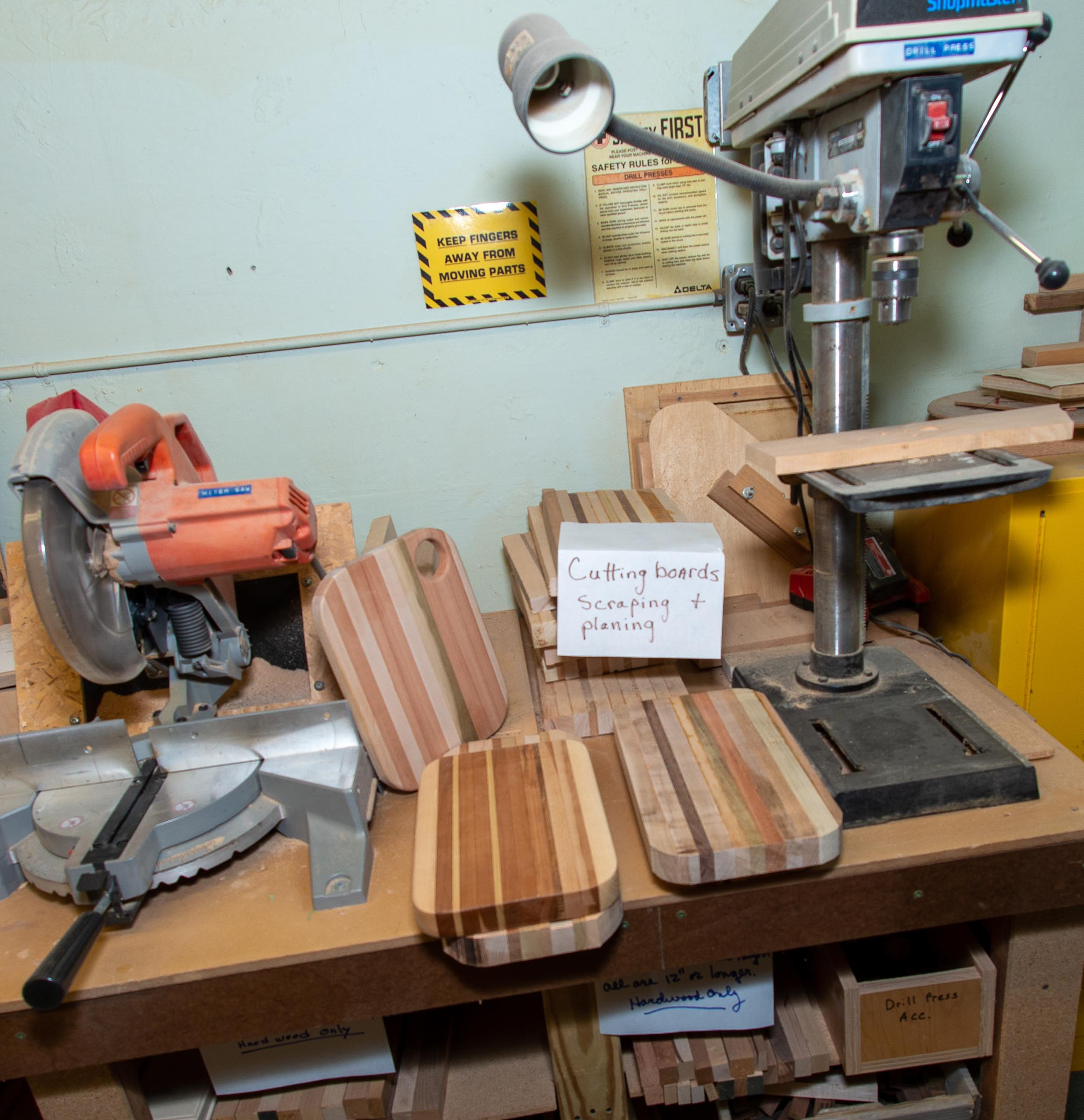 woodworking shop at WGA